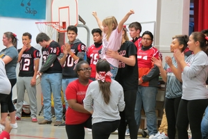Reading Super Bowl Kickoff Assembly at Benton