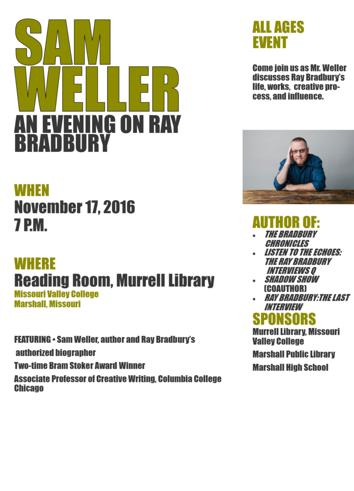 Sam Weller visiting MHS and Murrell Library